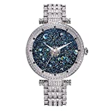 Princess Butterfly Women's Quartz Stainless Steel Fashion Diamante Watch, Color:Silvery