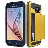 Galaxy S6 Case, Verus [Card Slot Case] Samsung Galaxy S6 Case [Damda Slide Series][Special Yellow]
