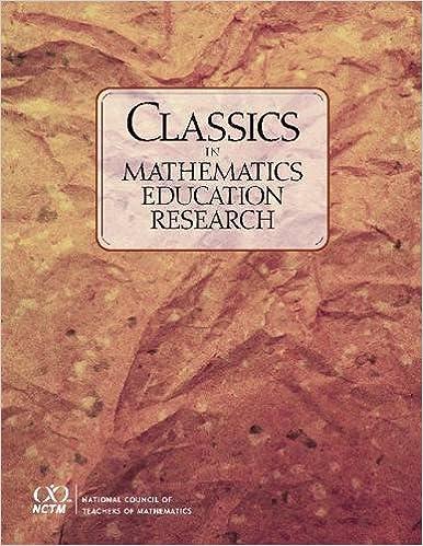Classics In Mathematics Education Research Book Pdf