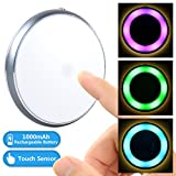 2win2buy Touch Led Light, Dimmable Kids Baby Nursery Touch Light Lamp Tap Light Stick Anywhere [Rechargeable Battery Powered] [Warm White Light][Mood Lighting PINK GREEN BLUE] for Closet Cabinet