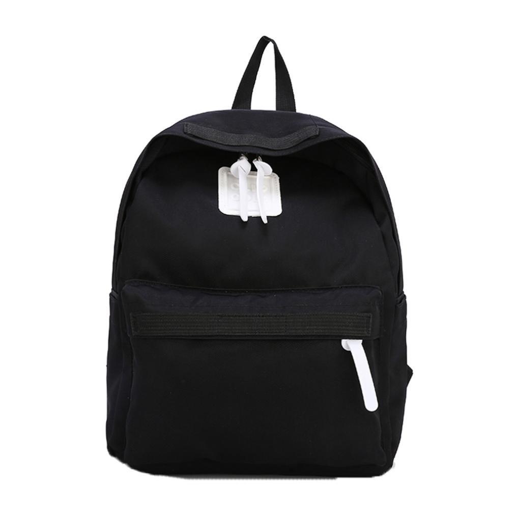 sunbona Kidsバックパック子供用ガールズボーイズバックパック学生学校ファミリトラベルバッグ L ブラック Sunbona*baby01 L ブラック B07FXVP2GC