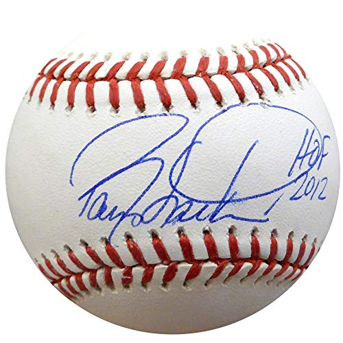 "Barry Larkin Autographed Official MLB Baseball Cincinnati Reds""HOF 2012"" Beckett BAS Stock #135927 - Beckett Authentication"