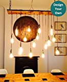 Reclaimed Wood Chandelier - 17 Pendant Light Trendy Unique Rustic Chandelier - Many Options - LED Chandelier