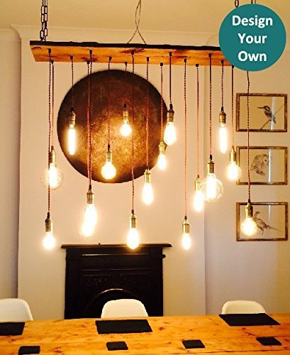 amazon com reclaimed wood chandelier 17 pendant light trendy