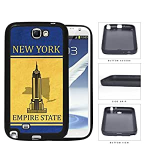New York State Tag Grunge Scrapes Rubber Silicone TPU Cell Phone Case Samsung Galaxy Note 2 II N7100