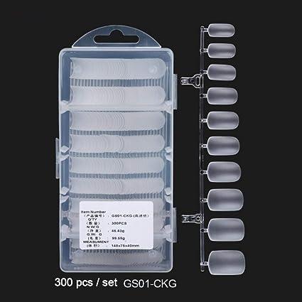 Puntas de uñas de acrílico, 300 PCS/Caja - Puntas de uñas de ...