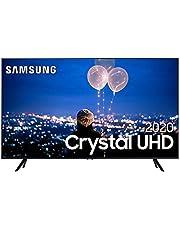 "Smart TV Samsung Crystal UHD TU8000 4K 82, Borda Infinita, Visual Livre de Cabos e Wi-Fi - UN82TU8000GXZD"""