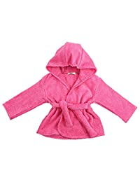 My Blankee Organic Hooded Bath Robe, Fuschia, 6-12 Months