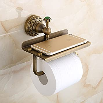 beelee bathroom tissue paper holder solid brass wallmounted toilet roll holder