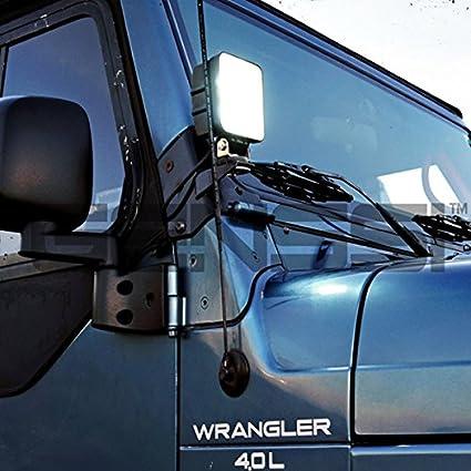 UTV ATV Arbeitsscheinwerfer Zusatzscheinwerfer Offroad Scheinwerfer 12V 24V R/ückfahrscheinwerfer MCTECH 8 X 27W Quadrat LED Offroad Flutlicht Reflektor Scheinwerfer Arbeitslicht SUV
