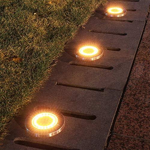 Luz de suelo LED cálida para exteriores, resistente al agua, IP65, lámpara solar para patio, casa o jardín, 1 luz cálida: Amazon.es: Iluminación