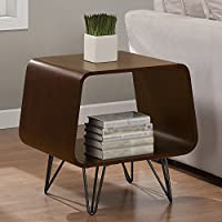 Easy Assemble, Stylish, Sturdy, Multi-functional Grey Astro End Table. Gives Elegance to Any Living Room or Bedroom.