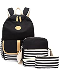 KARRESLY Canvas Cute Backpack Sports Shoulder Book Laptop Bag School Daypack For Women & Girls Boys