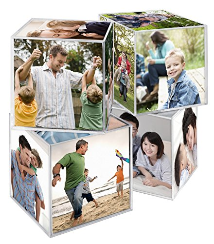 MCS 3.25x3.25 Inch Clear Plastic 6 Sided Photo Cube 4-Pack, Clear (65750) for $<!--$13.95-->