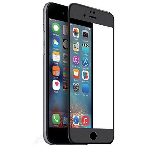 iPhone Panzerglas (2x Panzerfolie) Full-Cover HD Displayschutzfolie Edge to Edge 3D Edelstahl Panzerglasfolie Japanisches 9H Tempered Glass Hartglas, Glasfolie, Handy Schutzglas, Schutzfolie (Schwarz)