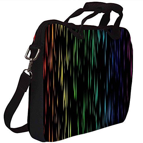 Snoogg Laser Shower 2414 Gedruckt Notebook-Tasche mit Schultergurt 15 bis 15,6 Zoll