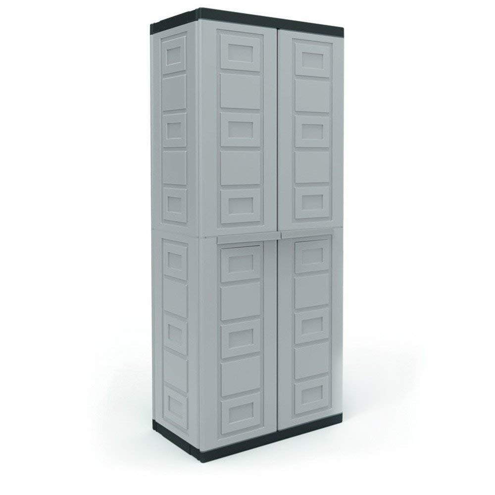 Plastic Freestanding Garage Cabinet Storage Shelves Tools Chest Workshop Contico CPC2DTXL