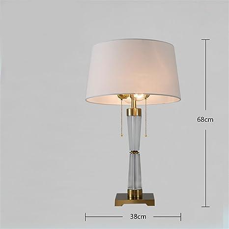XIAOLE Hotel lámpara de mesa postmoderna dormitorio sala de ...