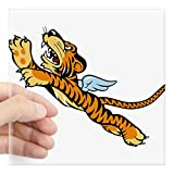 CafePress Flying Tigers Sticker Square Bumper Sticker Car Decal, 3'x3' (Small) or 5'x5' (Large)
