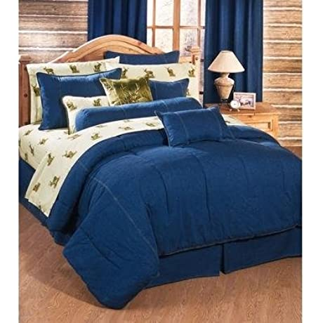 Karin Maki American Denim Comforter And Sham Set King
