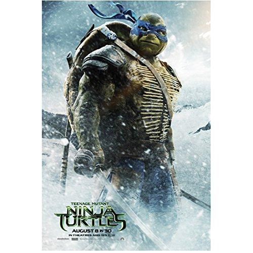 Teenage Mutant Ninja Turtles movie poster featuring Leonardo in snow 8 x 10 Inch Photo