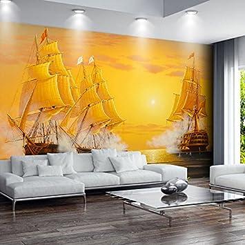 Ohcde Dheark Custom 3D Wandbild Tapeten Öl Malerei Segelboot Glattes Segeln  Tv Kulisse Décoratifs Bild