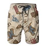 Lisang Men's Knight Equipment Boots Quick Dry Beach Shorts Sports Swim Trunks XX-Large