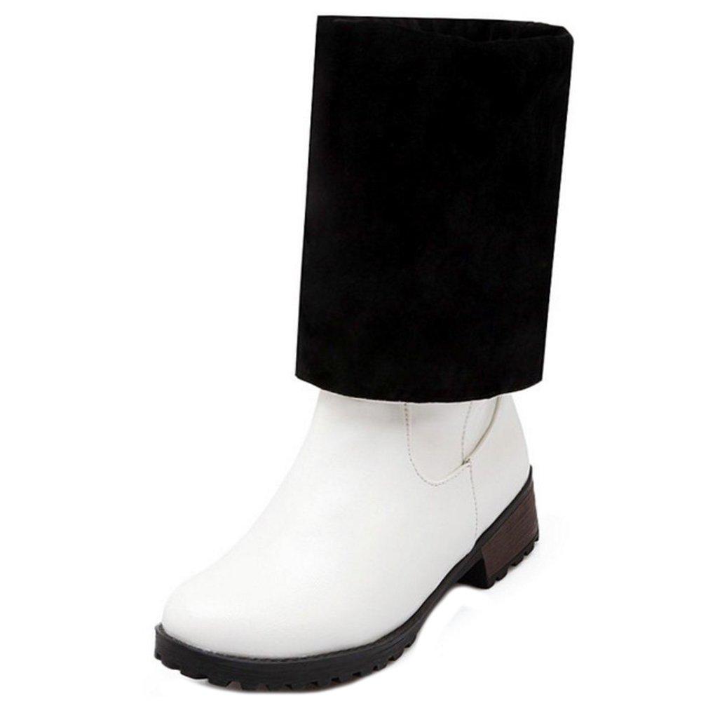 Zanpa Donna Inverno Scarpe Mode Alti Stivali OversizedWhite
