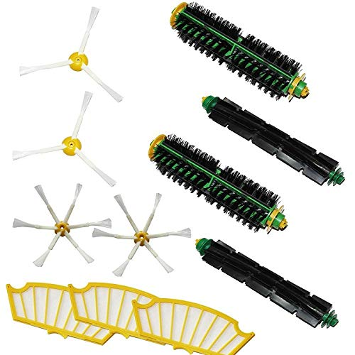 SMILESSGSP Bristle Flexible Beater Brush Armed Filter kit for iRobot Roomba 500 Series Vacuum Cleaner 520 530 540 550 560