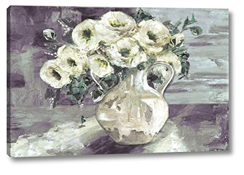 White Flowers in Pottery Pitcher by TRE Sorelle Studios - 15