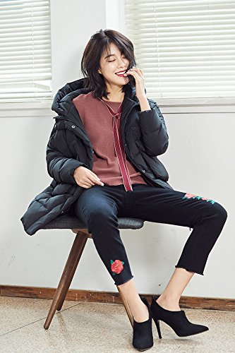 Generic 2018 new winter warm down jacket and long sections Korean women loose hooded bread service for women girl