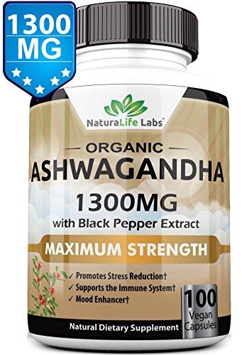 NEW Organic Ashwagandha 1300mg capsules product image