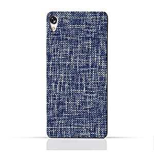 AMC Design Asus Zenfone Live ZB501KL Silicone case with Brushed Chambray Pattern - Blue