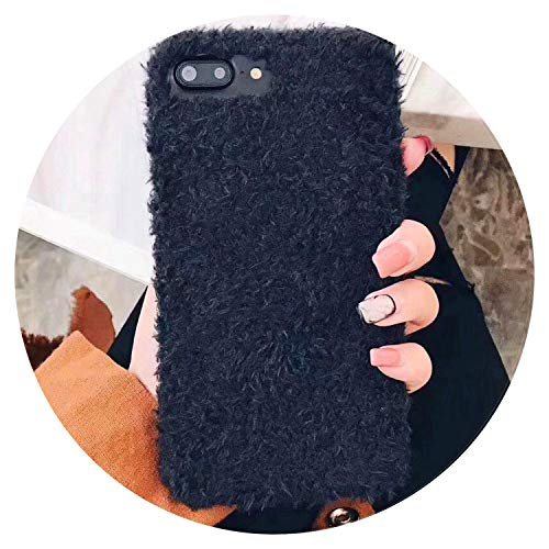 (Luxury Winter Warm Fuzzy Phone Cases for iPhone 7 7Plus 6 6S case Fashion Furry Cover for iPhone 8 8Plus Plush,2,for iPhone 8Plus)