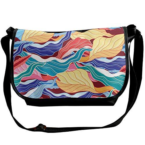 Designer Ukiyoe Fashion Single Bag Satchel Travel Unisex Bag Multicolored Black Leaves Stripes Bags Shoulder wdTBPq