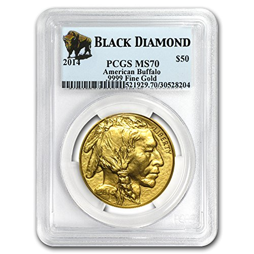 2014 Gold Buffalo - 2014 1 oz Gold Buffalo MS-70 PCGS (Black Diamond) 1 OZ MS-70 PCGS