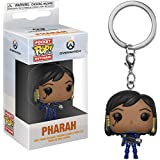 Funko Pharah: Overwatch x Pocket POP! Mini-Figural Keychain + 1 Video Games Themed Trading Card Bundle [32791]