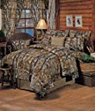 Realtree All Purpose Camouflage 8 Pc Queen Comforter Set (Comforter, 1 Flat Sheet, 1 Fitted Sheet, 2 Pillow Cases, 2 Shams, 1 Bedskirt) SAVE BIG ON BUNDLING!