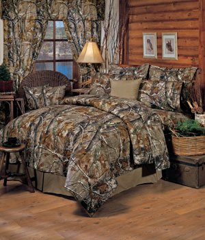 (Realtree All Purpose Camouflage FULL 13 Pc Bedding Set (Comforter, 1 Flat Sheet, 1 Fitted Sheet, 2 Pillow Cases , 2 Shams , 1 Bedskirt, 1 Valance/Drape Set) - SAVE BIG ON BUNDLING! )
