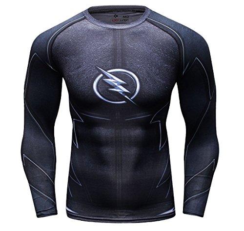 Cody Lundin Herrenmode schwarzer Blitz Logo lässigen T-Shirts Gentleman attraktives Hemd des Mannes Sport Dress-Party im freien Langarm