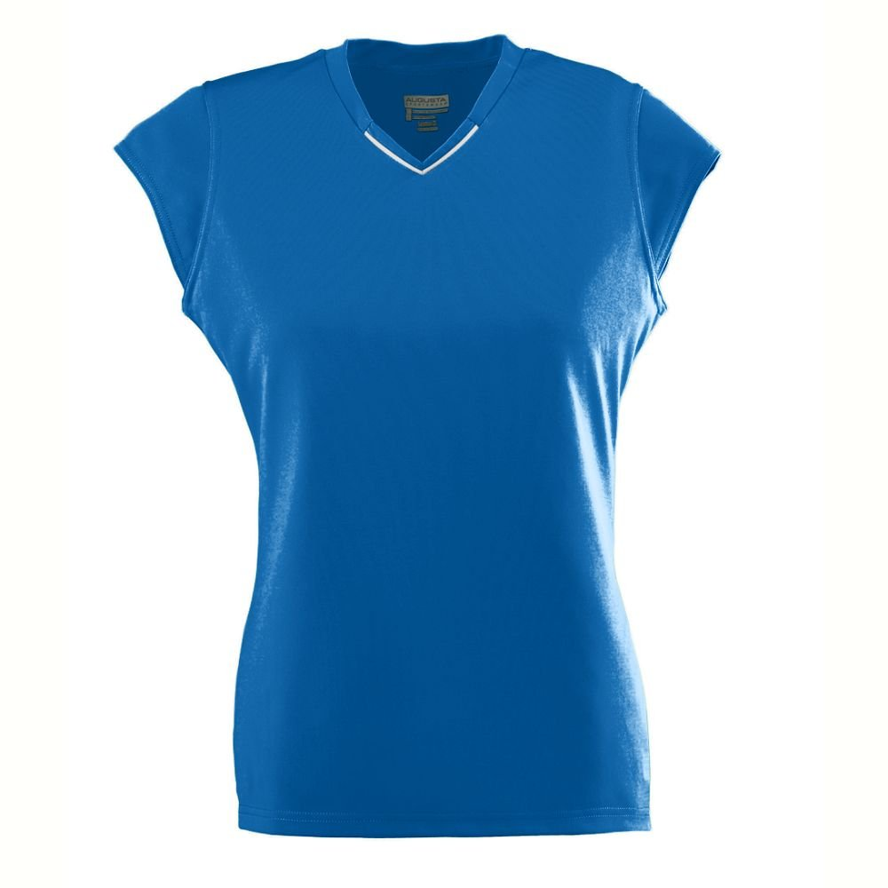 Ladies Wicking/Antimicrobial Rally Jersey - Royal - Large