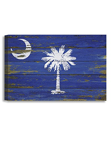 DECORARTS South Carolina State Flag. Giclee Print on 100% Archival Cotton Canvas, Canvas wall art for Wall Decor 36x24x1.5 (Canvas Deco Print Art)