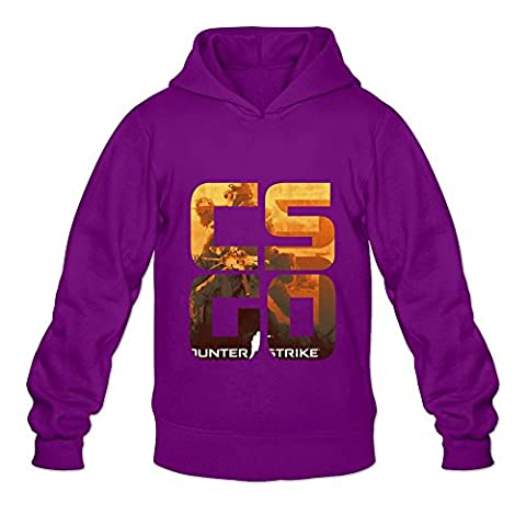 Men's Counter Strike Global Offensive Sweater Size M Purple (Gone Baby Gone Movie Poster)