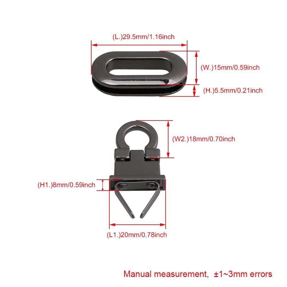 silber bqlzr Legierung Turn Verschluss DIY Handtasche Tasche Geldb/örse Hardware Twist Locks Schlie/ße gurthalteband Leder Craft Legierung Lock 4/St/ück