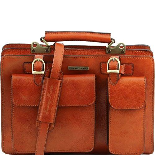 Tuscany Leather Tania Borsa a mano in pelle da donna - Misura grande Rosso Miele