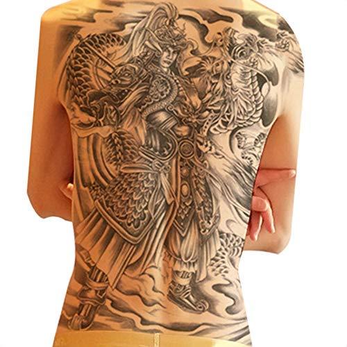 Tatuaje de gran tamaño con estatua de Buda en la parte trasera del ...
