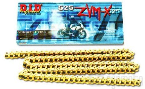 D.I.D 525 ZVM-X Super Street Series Chain - 120 Links - Gold , Chain Type: 525, Chain Length: 120, Color: Gold, Chain Application: Offroad 525ZVM-X GOLD X 120 Super Street Series