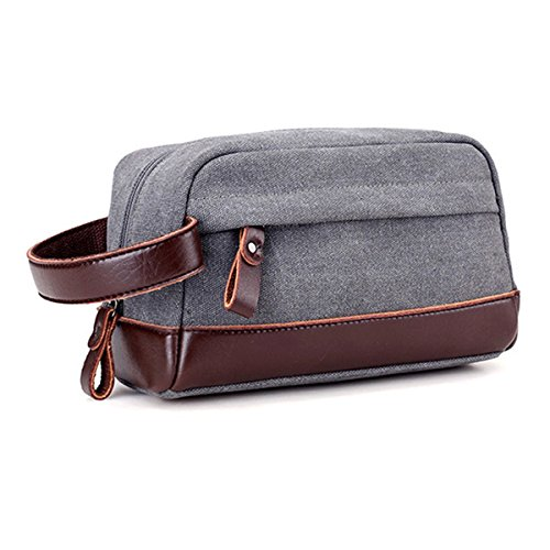 0f94a4b882c8 JAKAGO Canvas Large Overnight Wash Gym Shaving Toiletry Bag Travel Organizer  Shaving Dopp Kit Cosmetic Makeup Bag for Men - Buy Online in KSA.