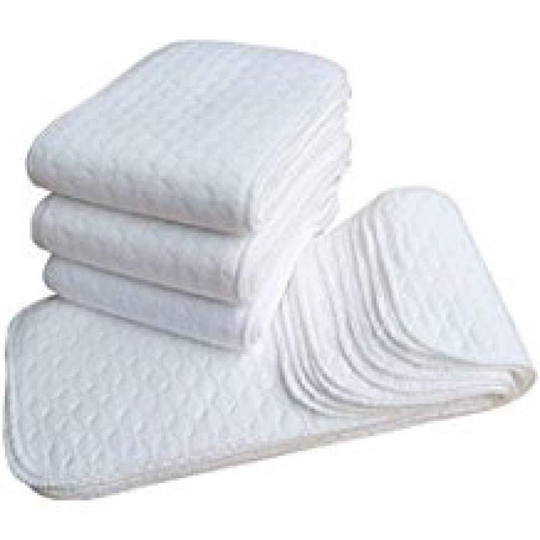 Blanc Kashyk 5PC couche de coton b/éb/é Lot de linges de protection pour couche lavable 46 X 16CM