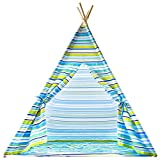 Kids Teepee 100% Natural Cotton Canvas, Complete with Base, By Urban Mom